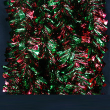 12ft Red & Green Boa Bow Tie Tinsel Garland # BOA-23