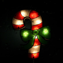 10LT Shimmer Candy Cane Window Decor # 91320