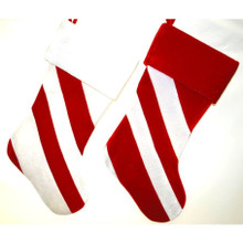 Red and White Stripe Stockings, 2 Assorted