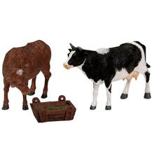 Lemax Feeding Cow & Bull, Set of 3 #12512