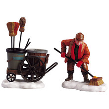 Lemax Street Sweeper, Set of 2 #52093