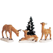Lemax Dad And Fawns, Set of 4 #92299