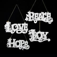 Kurt Adler Love, Hope, Joy & Peace Ornaments, 4 Assorted #H5581