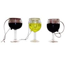 Kurt Adler Wine Glass Ornament, 3 Assorted #T0748