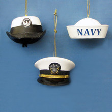 Kurt Adler U.S. Navy Cap Ornament #NA2142