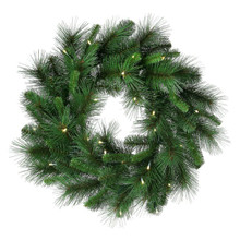 """Deluxe 24"""" Mixed Pine Wreath with 25 LED Lights #MTX46107L"""