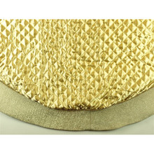 56in Gold Satin Pleated Tree Skirt with Shimmer Edge