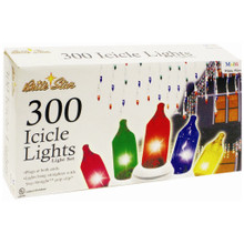 300-Light Icicle Lights Value Pack in Multi , White Wire