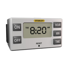 Single outlet polarized Slim Indoor Daily Digital Timer -White