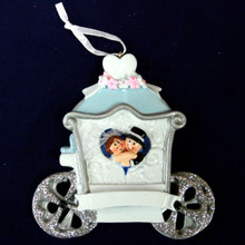 Rudolph & Me Wedding Carriage Personalized Ornament #1615
