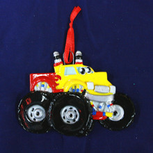 Rudolph & Me Monster Truck Personalized Ornament #1690