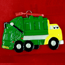 Rudolph & Me Garbage Truck Personalized Ornament #1692