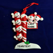 Rudolph & Me Street Post Family of 5 Personalized Ornament #909-5
