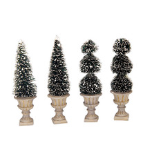Lemax Village Collection Cone-Shaped Sculpted Topiaries #34965