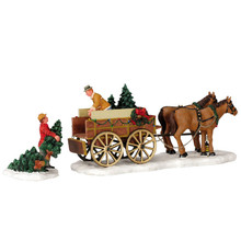 Lemax Village Collection Christmas Tree Wagon, set of 2 #43451