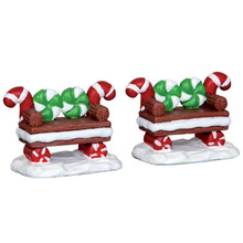 Lemax Village Collection Peppermint Cookie Bench #44812