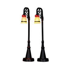 Lemax Village Collection Bell Ornament Lamp Post, Set of 2 #54932