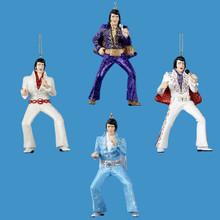 Kurt Adler Resin Elvis Jumpsuit Ornament, 4 Assorted #EP2109