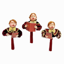 6in Caroler Boy Ornament, 3 Assorted #MTX52043