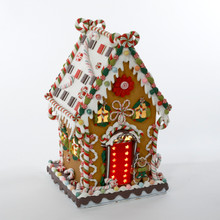 Kurt Adler Lighted Cookie & Candy House #J3579
