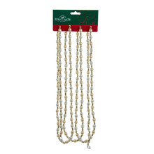 Kurt Adler 9ft Ivory & Gold Bead Garland #H9497