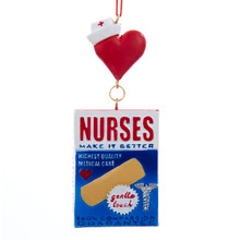 Kurt Adler Nurses Bandage Box Ornament #J1496