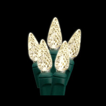 30 LED Diamond C6 Warm White Bulb Light Set
