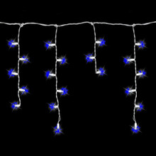 70 LED Blue Icicle Light Set