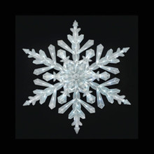 48in 90 LED Cool White Crystal Snowflake