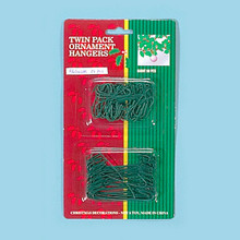 100 Green Ornament Hooks Combo Pack