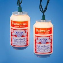 Kurt Adler UL 10-Light Vintage Budweiser Can Lite Set #AB9140