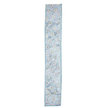 Kurt Adler 5-yard White and Light Blue Snowflake Ribbon #B3129