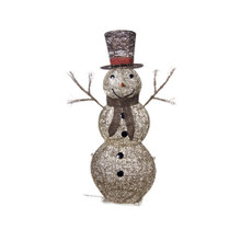 Lighted Glittering Champagne Snowman