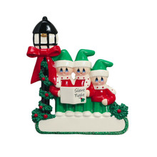 Rudolph & Me Caroler Family of 3 Personalized Ornament #1407-3