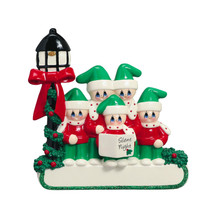 Rudolph & Me Caroler Family of 5 Personalized Ornament #1407-5