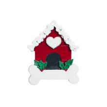 Rudolph & Me Dog Bone House Personalized Ornament #1629