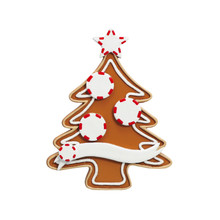 Rudolph & Me Gingerbread Tree Family of 3 Personalized Ornament #4-3