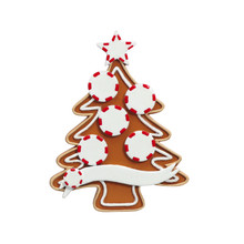 Rudolph & Me Gingerbread Tree Family of 5 Personalized Ornament #4-5