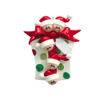 Rudolph & Me Glitter Gift Family of 5 Personalized Ornament #907-5