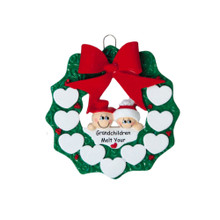 Rudolph & Me Snow Grandparents Personalized Ornament #938