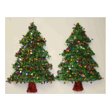Tinsel Christmas Tree Decoration #18W-TREE