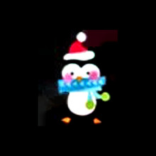 Lighted Penguin Shimmer Window Decoration #91364