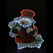 LED Rope Light Snowman with Snowchildren