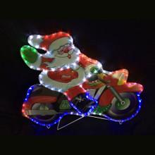 LED Rope Light Santa on Motorcycle