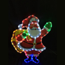 LED Rope Light Santa with Toy Sack