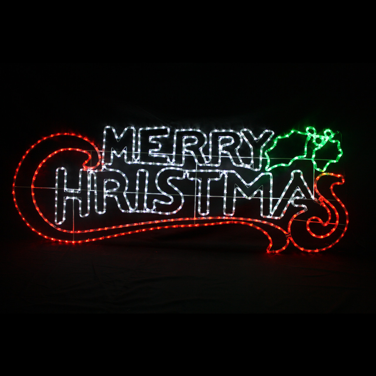 led rope light merry christmas sign
