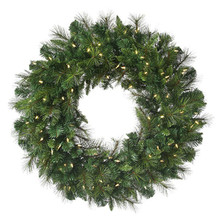 """72"""" Prelit Deluxe Belgium Mix Christmas Wreath with 400 Clear Lights"""
