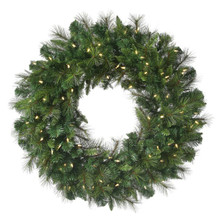 """96"""" Pre-Lit Deluxe Belgium Christmas Wreath with 750 Clear UL Lights"""