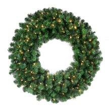 8' Pre-Lit Deluxe Noble Christmas Wreath with 1,250 Clear UL Lights