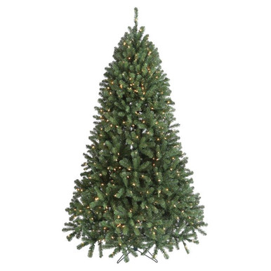 18' Pre-Lit Hudson Valley Christmas Tree with 4,500 Clear UL Lights ...